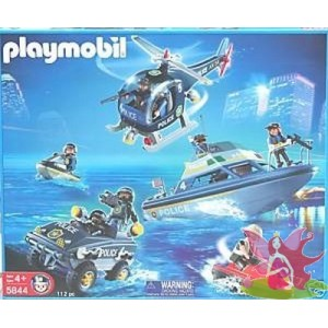 PLAYMOBIL 5844 SWATT police vehicules intervention forces speciales