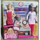 Barbie CHEF & WAITER friends careers 2016 Mattel FCP66 boite fendue