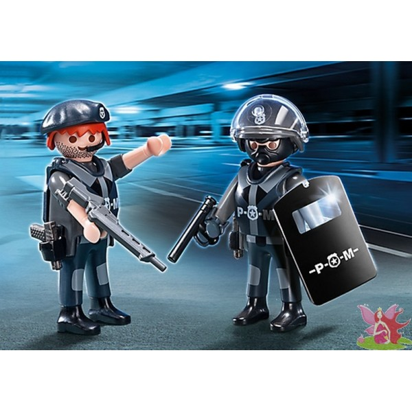 PLAYMOBIL 5515 blister les hommes du SWAT groupe intervention