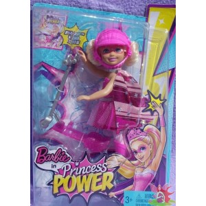 CHELSEA Pink Scooter in PRINCESS POWER club kelly 2015 Mattel CDY69
