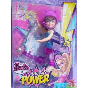 CHELSEA Purple Scooter in PRINCESS POWER club kelly 2015 Mattel CDY70